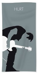 No197 My Nine Inch Nails Minimal Music Poster Beach Towel