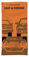 No207-4 My Fast And Furious Minimal Movie Poster Beach Towel