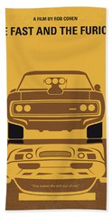 No207 My The Fast And The Furious Minimal Movie Poster Beach Towel