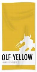 No21 My Minimal Color Code Poster Wolverine Beach Towel