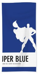 No23 My Minimal Color Code Poster Superman Beach Towel