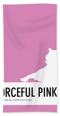 No26 My Minimal Color Code Poster Piggy  Beach Towel