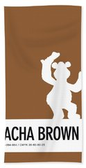 No28 My Minimal Color Code Poster Fozzy  Beach Towel