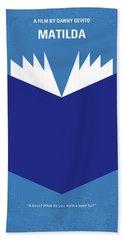 No291 My Matilda Minimal Movie Poster Beach Towel