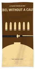 No318 My Rebel Without A Cause Minimal Movie Poster Beach Towel by Chungkong Art