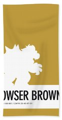 No38 My Minimal Color Code Poster Bowser Beach Towel