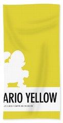No43 My Minimal Color Code Poster Wario Beach Towel
