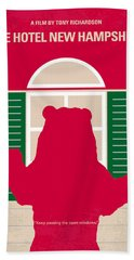 No443 My The Hotel New Hampshire Minimal Movie Poster Beach Towel