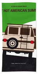 No481 My Wet Hot American Summer Minimal Movie Poster Beach Towel
