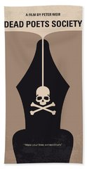 No486 My Dead Poets Society Minimal Movie Poster Beach Towel