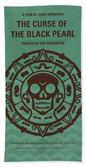 No494-1 My Pirates Of The Caribbean I Minimal Movie Poster Beach Towel by Chungkong Art