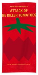 No499 My Attack Of The Killer Tomatoes Minimal Movie Poster Beach Towel