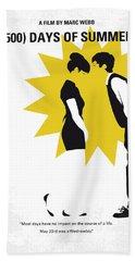 No500 My 500 Days Of Summer Minimal Movie Poster Beach Towel