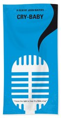 No505 My Cry-baby Minimal Movie Poster Beach Towel