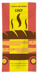 No524 My Chef Minimal Movie Poster Beach Towel