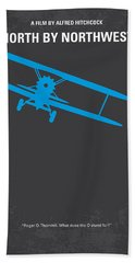 No535 My North By Northwest Minimal Movie Poster Beach Towel by Chungkong Art