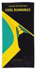 No538 My Cool Runnings Minimal Movie Poster Beach Towel
