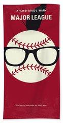 No541 My Major League Minimal Movie Poster Beach Towel