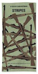 No542 My Stripes Minimal Movie Poster Beach Towel
