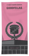 No549 My Goodfellas Minimal Movie Poster Beach Towel