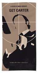 No557 My Get Carter Minimal Movie Poster Beach Towel by Chungkong Art