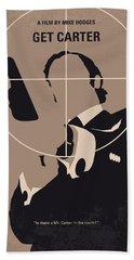 No557 My Get Carter Minimal Movie Poster Beach Sheet by Chungkong Art