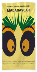 No589 My Madagascar Minimal Movie Poster Beach Towel