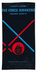 No591 My Star Wars Episode Vii The Force Awakens Minimal Movie Poster Beach Towel
