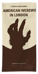 No593 My American Werewolf In London Minimal Movie Poster Beach Towel