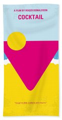 No603 My Cocktail Minimal Movie Poster Beach Towel by Chungkong Art