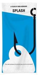 No625 My Splash Minimal Movie Poster Beach Towel