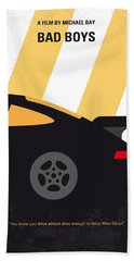 No627 My Bad Boys Minimal Movie Poster Beach Towel
