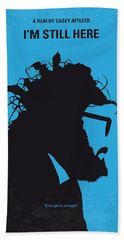 No637 My I Am Still Here Minimal Movie Poster Beach Towel by Chungkong Art