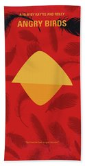 No658 My Angry Birds Movie Minimal Movie Poster Beach Towel