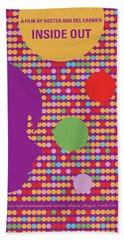 No664 My Inside Out Minimal Movie Poster Beach Towel