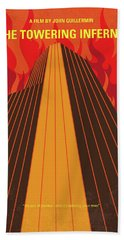 No665 My The Towering Inferno Minimal Movie Poster Beach Towel