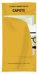 No671 My Capote Minimal Movie Poster Beach Towel