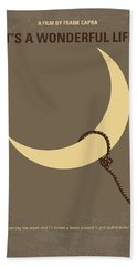 No700 My Its A Wonderful Life Minimal Movie Poster Beach Towel