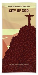 No716 My City Of God Minimal Movie Poster Beach Towel