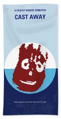 No718 My Cast Away Minimal Movie Poster Beach Towel