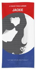 Beach Towel featuring the digital art No755 My Jackie Minimal Movie Poster by Chungkong Art