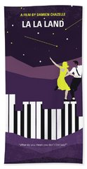 No756 My La La Land Minimal Movie Poster Beach Towel