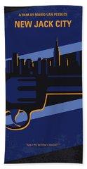 No762 My New Jack City Minimal Movie Poster Beach Towel