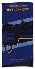 Beach Towel featuring the digital art No762 My New Jack City Minimal Movie Poster by Chungkong Art