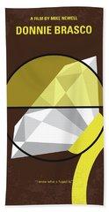 No766 My Donnie Brasco Minimal Movie Poster Beach Towel