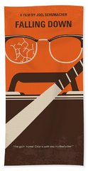 Beach Towel featuring the digital art No768 My Falling Down Minimal Movie Poster by Chungkong Art