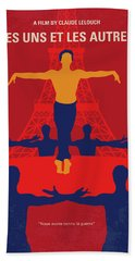 Beach Towel featuring the digital art No771 My Les Uns Et Les Autres Minimal Movie Poster by Chungkong Art
