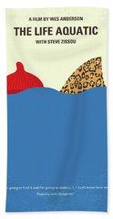 No774 My The Life Aquatic With Steve Zissou Minimal Movie Poster Beach Towel