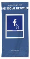No779 My The Social Network Minimal Movie Poster Beach Towel