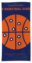 No782 My The Basketball Diaries Minimal Movie Poster Beach Towel